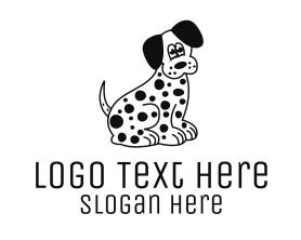 Puppy - Dalmatian Dog Cartoon logo design