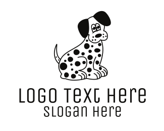 Veterinarian - Dalmatian Cartoon logo design