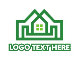 White House - Double Green House logo design