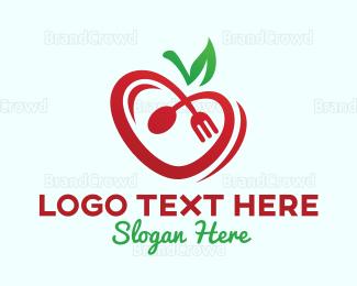 Healthy - Healthy Heart Food logo design