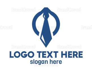 Coat - Blue Tie Lawyer logo design