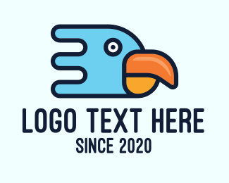 Toucan Bird - Modern Tropical Bird logo design