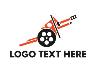 Tank - Cannon Reel  logo design