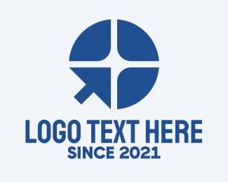Paddle - Blue Paddle Cursor logo design