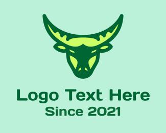 Matador - Green Ox Head logo design