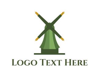Windmill - Educational Mill logo design