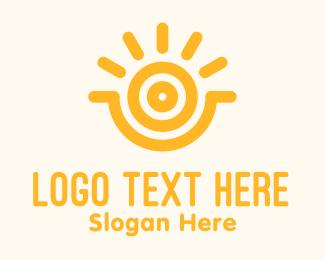 Solar Power - Yellow Sunshine Energy logo design