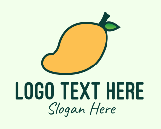 Yellow - Yellow Mango Fruit logo design