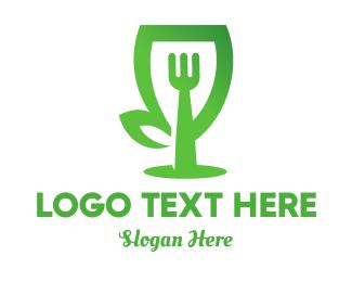 Food And Wine - Eco Food logo design