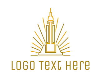 Capital - Tower Outline logo design