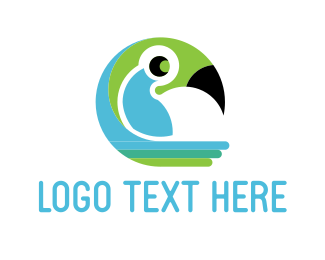 Beak - Tropical Parrot logo design