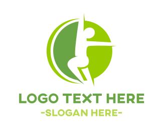 Kinesiology - Green Fitness logo design