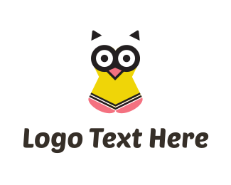Eraser - Pencil Owl logo design