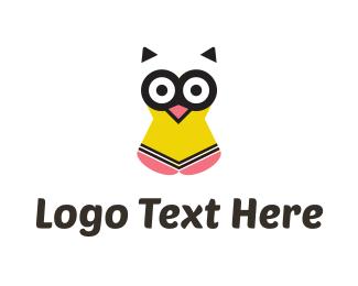 Educational - Pencil Owl logo design