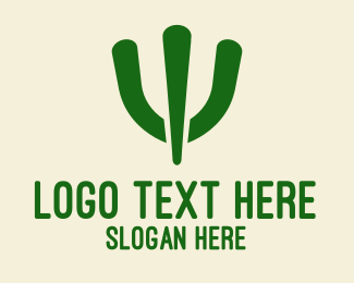 Middle East - Simple Green Cactus  logo design