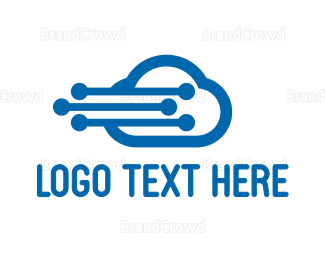 Cloud Drive - Modern Flying Cloud logo design