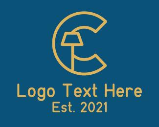Interior Design - Interior Lamp Letter C logo design