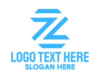 Traffic - Blue Letter Z  logo design