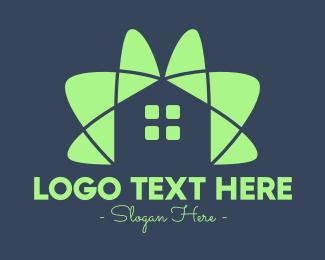 Yoga Training - Green House Flower logo design