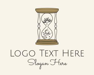 Hourglass - Celestial Hourglass Astrology logo design