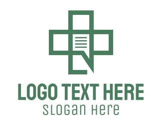 Medical Care - Green Medical Chat logo design