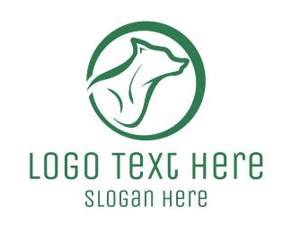 Coyote - Green Wolf logo design