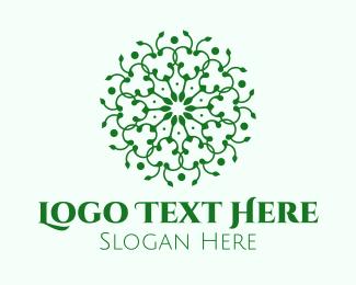 Detailed - Organic Green Mandala logo design