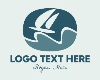 Sailing - Sailing Yacht Badge logo design