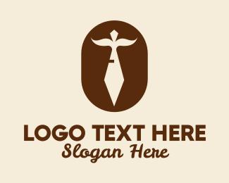 Formal - Mustache Necktie  logo design
