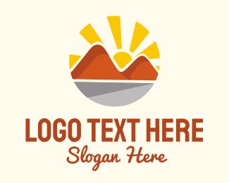 Horizon - Rocky Mountain Hiking  logo design