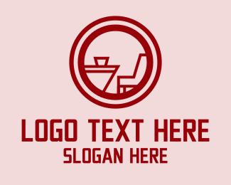 Dinner - Dinner Table Badge logo design