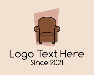 Living Room - Classic Living Room Armchair logo design