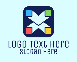 Marketing - App Letter X logo design