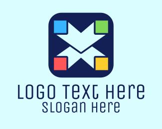 App Letter X Logo