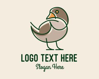 Mallard Duck - Minimalist Farm Duck logo design