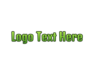 Teen - Green Gradient Text logo design