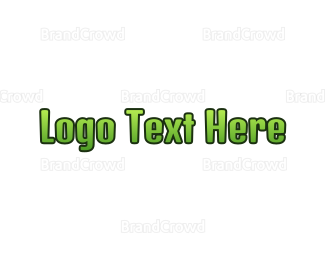 Exclamation Mark - Green Gradient Text logo design