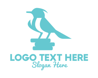 Sky - Sky Blue Little Bird logo design