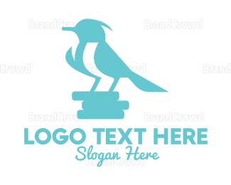 Small - Sky Blue Little Bird logo design