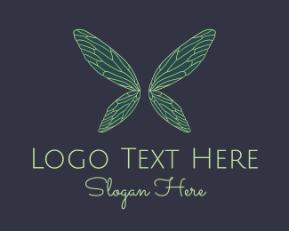 Fairytale - Green Fairy Wings Boutique logo design