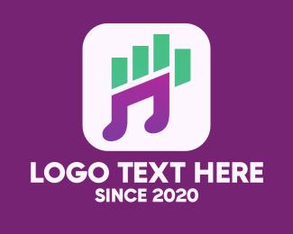 New - New Audio Streaming App logo design