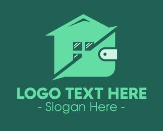 Saving - House  Wallet logo design