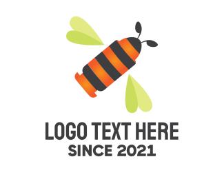 Gun - Bee Bullet logo design