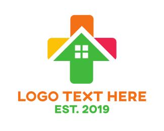 Addition - Colorful Cross House logo design
