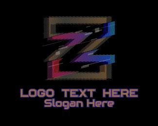 Fortnite - Gradient Glitch Letter Z logo design