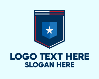 Pocket - Modern Star Shield logo design