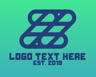 Grid - Blue Grid Z logo design