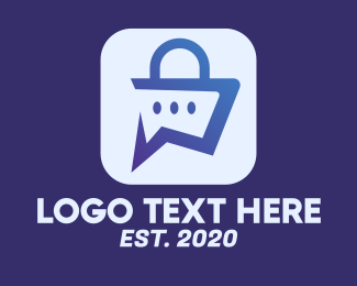Texting App - Digital Shopping App logo design