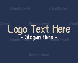 Beige - Nordic Clan Text Font logo design