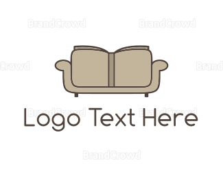 Furniture - Reading Couch logo design